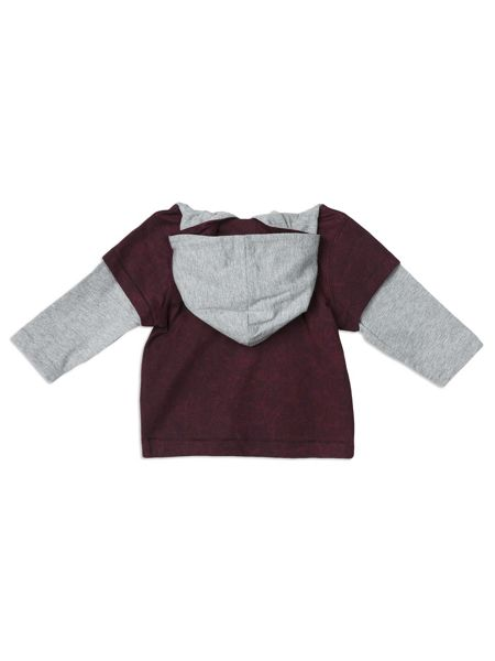 Pumpkin Patch Hooded Double Sleeve Top