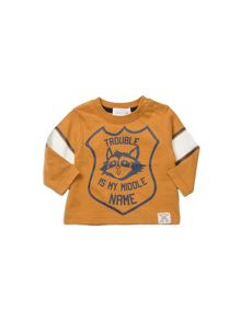 Pumpkin Patch Long Sleeve Tee With Chest Print
