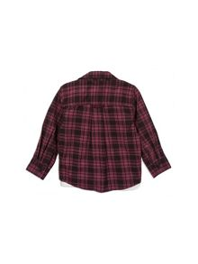 Pumpkin Patch Check Shirt with Mock Tee