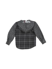 Pumpkin Patch Grey Check Hooded Shirt