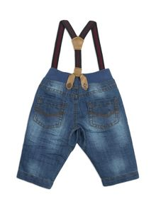 Pumpkin Patch Crotch Panel Jeans With Braces