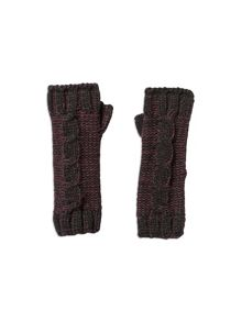 Pumpkin Patch Boys Cable Fingerless Gloves