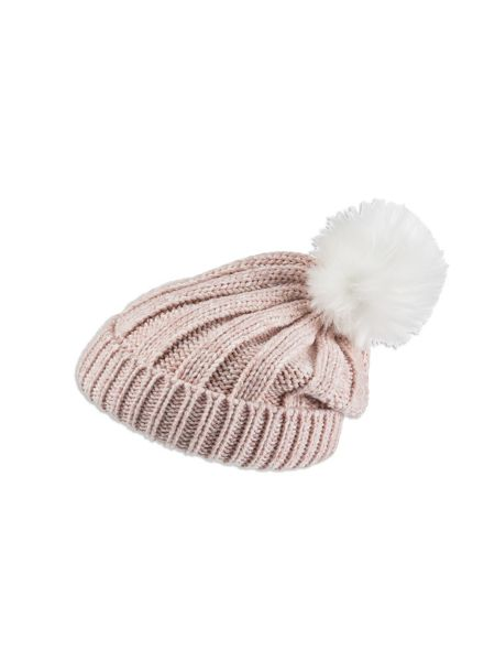 Pumpkin Patch Girls Fur Pompom Beanie