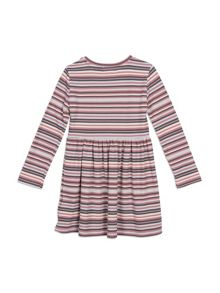 Pumpkin Patch Striped Rib Dress