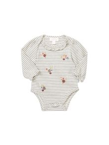 Pumpkin Patch Stripe Long Sleeve Bodysuit