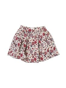 Pumpkin Patch Printed Floral Skirt