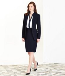 Navy Washable Skirt Suit