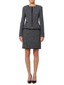 BOSS Modern Tweed Skirt Suit