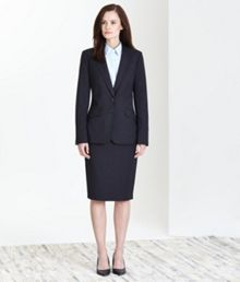 Charcoal Stretch Classic Skirt Suit