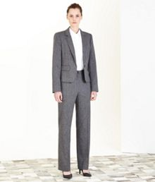 Black And White Tweed Trouser Suit