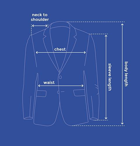 Suit Jacket measurement House of Fraser