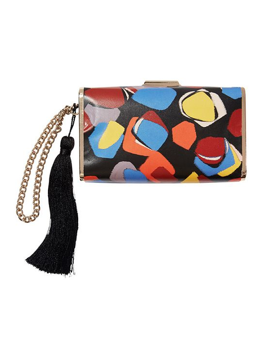 ISSA London wristlet printed clutch bag
