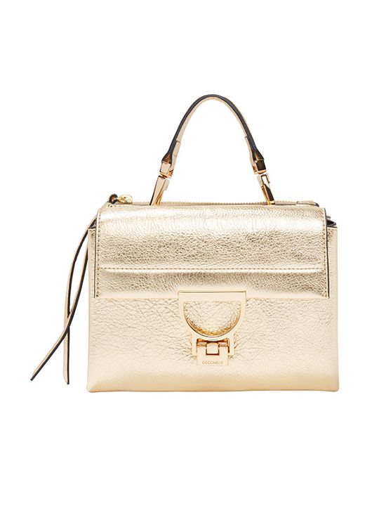 Coccinelle Gold metallic mini bag