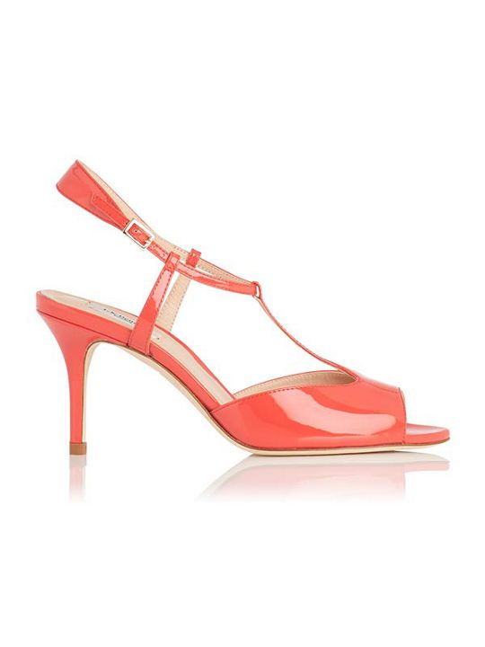 LK Bennett Ora geranium patent leather sandals
