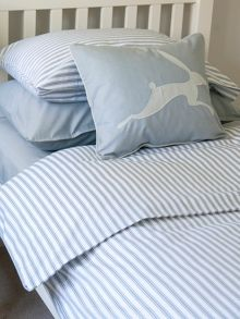 Harriet Hare Ticking Stripe bed linen range