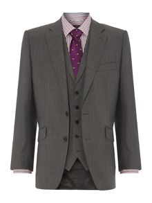 New & Lingwood St James Sharkskin Three Piece Suit