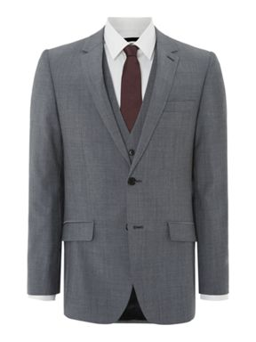 Kenneth Cole Grey Mohair Three Piece Suit