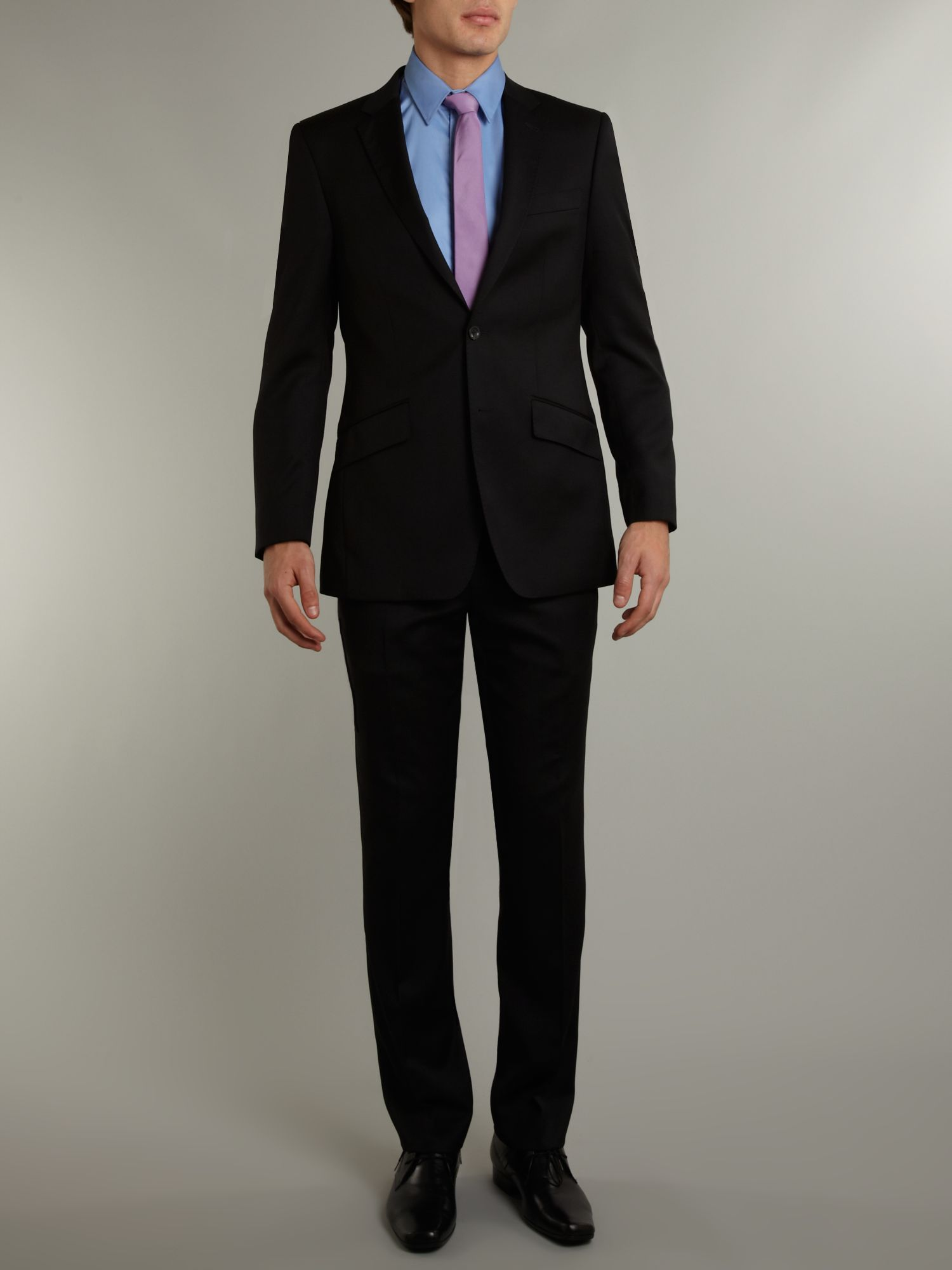 Regular fit wool suit