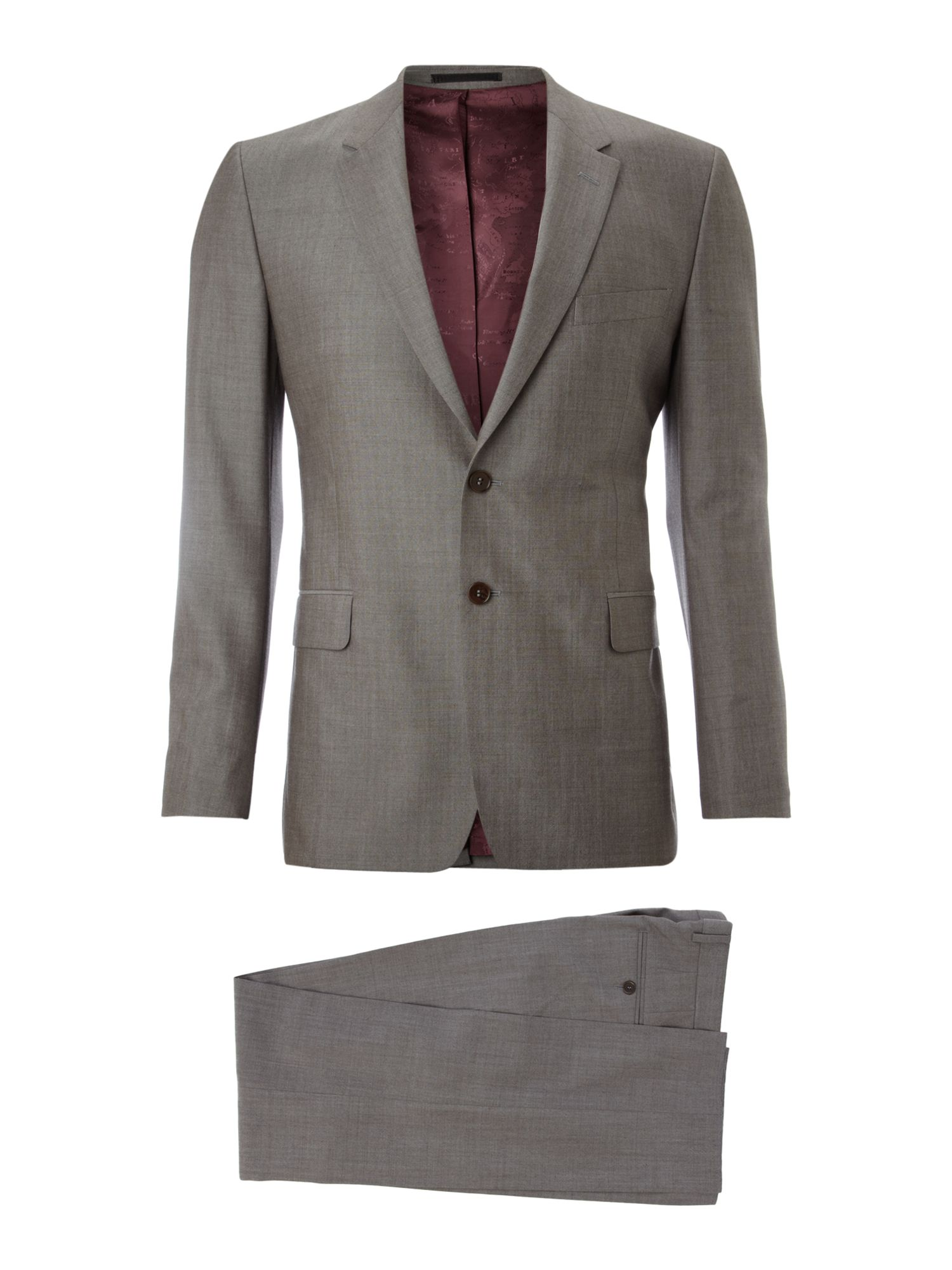 Floral pewter wool suit