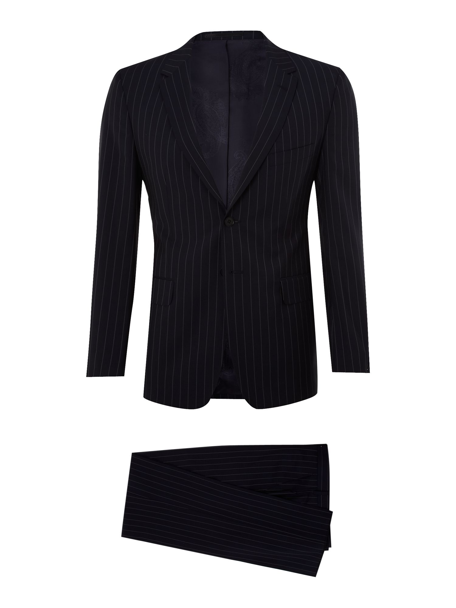 Single Breasted wool stripe suit
