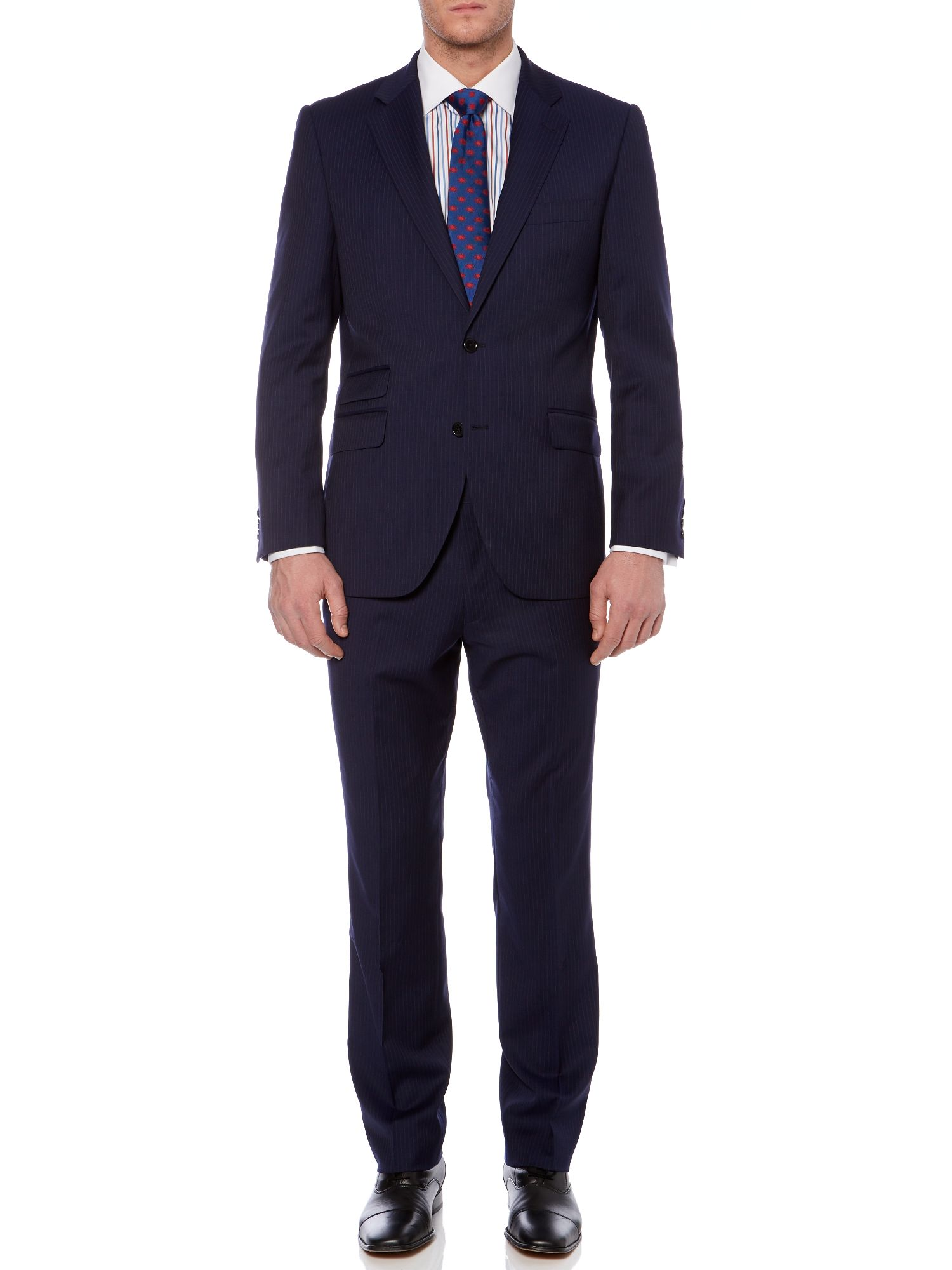 Waver stripe twill suit
