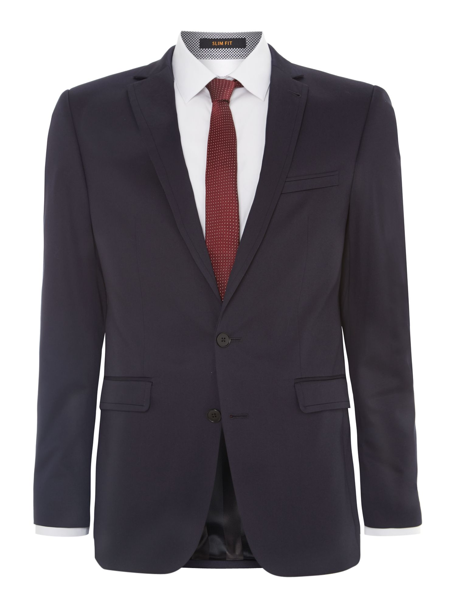 Cotton sateen slim fit suit