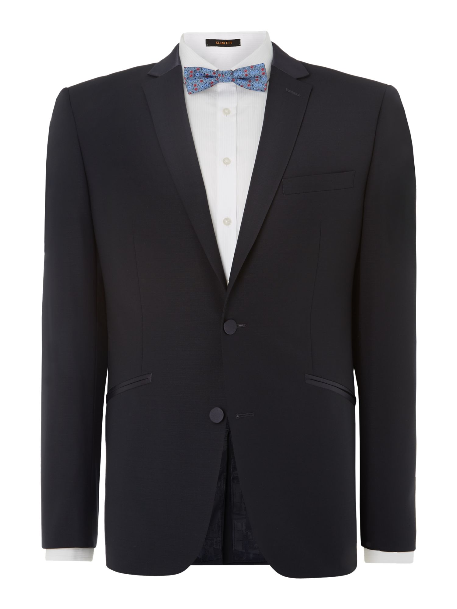 Satin trimmmed slim fit dinner suit