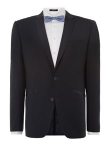 Simon Carter Satin trimmed slim fit dinner suit