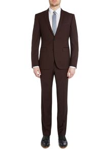 Satin trim slim fit suit
