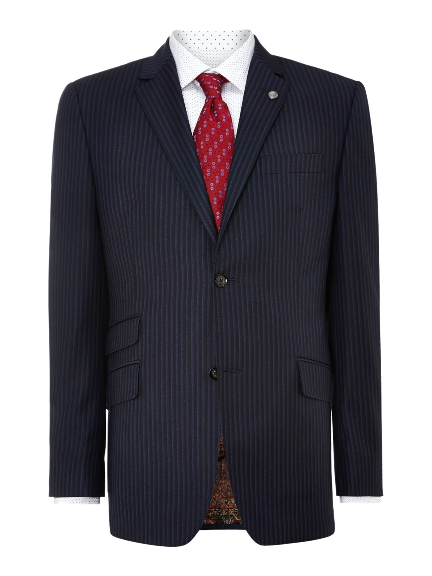 Endex regular fit shadowtripe suit