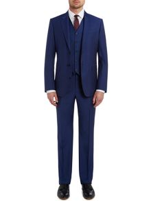 Byard bright blue slim fit mohair suit