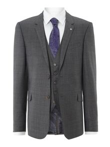 Bonne slim fit POW three piece suit