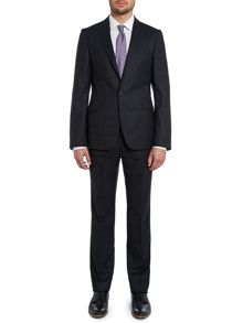 Restat slim fit subtle PoW check suit