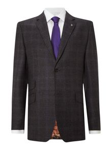 Lashup regular fit blue check suit