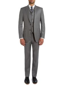 Twill peak regular fit three piece suit