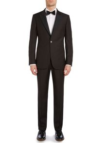 Jacquard contrast slim fit dinner suit