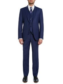 Solid slim fit three piece suit
