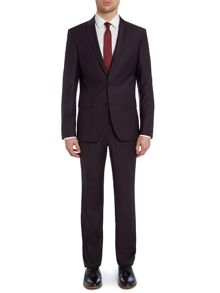 Solid slim fit two piece suit