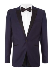 Simon Carter Grid Jacquard slim fit suit