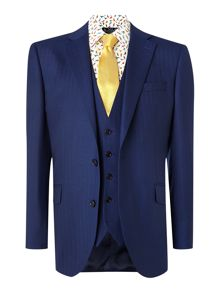 New & Lingwood Anderby Herringbone Tailored Fit Suit