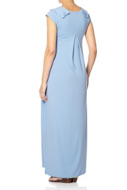 Bibee Maternity Maxi Day Dress with V-Neck Front