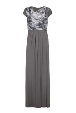 Bibee Maternity Evening Dress with Print Cowl-Neck Front