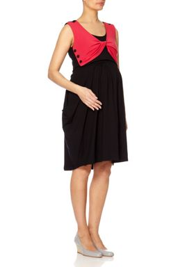 Bibee Maternity Cowl-Front Dress with Twisted Front