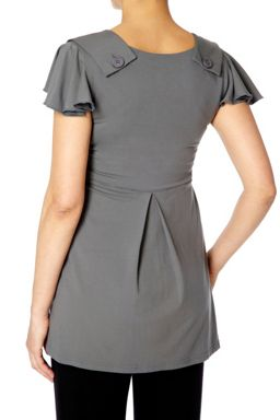Bibee Maternity Cap Sleeve Tunic with Cut Out Front