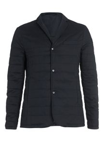 Topman Co-ord Collection Navy Quilted Suit