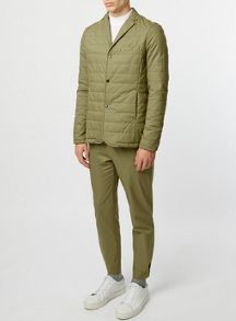 Topman Co-ord Collection Beige Quilted Suit