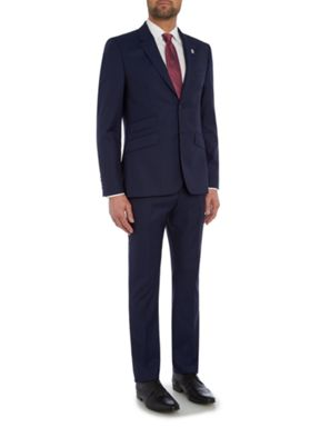 Ted Baker Single Breasted Kimodo Blue Tonal Suit