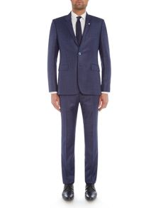 Ted Baker Hopski Slim Blue Gingham Suit