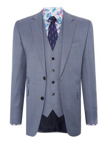 New & Lingwood Midhurst  Notch Lapel Textured Suit