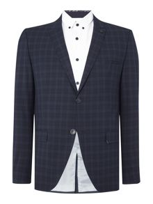 Selected Homme Trey Navy Check Suit